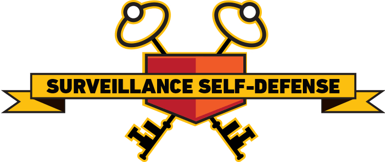 The EFF surveillance self-defense logo. Secure your online communications now!