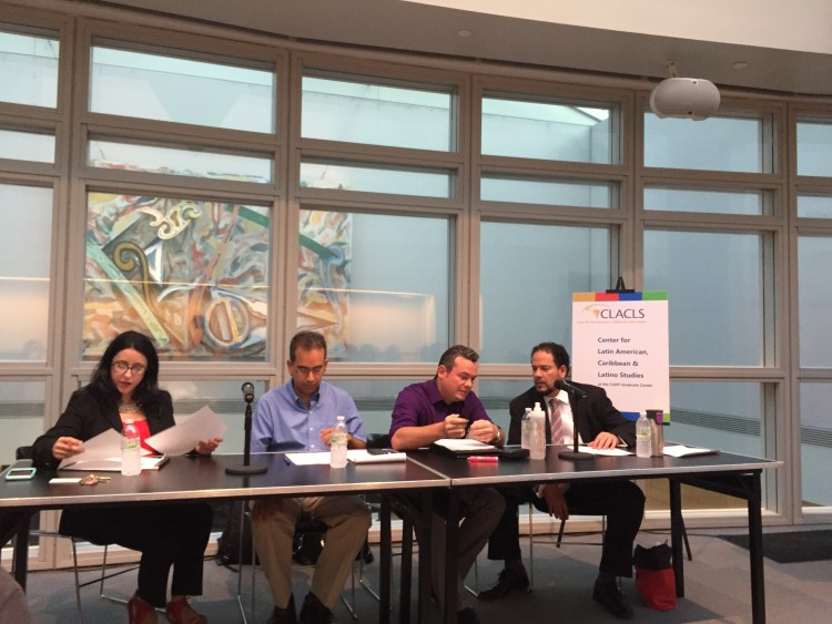 The CLACLS panel on the Puerto Rican debt crisis (Credit: Lisa Jahn / Sarah Molinari, 8 September 2015)