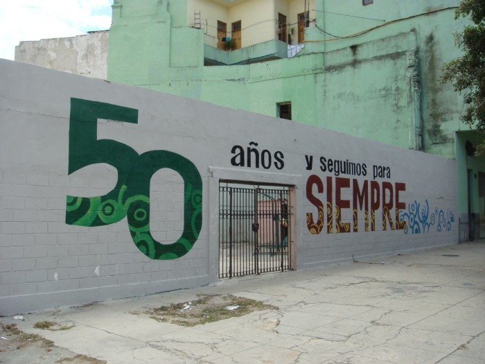Poster celebrating 50 Years of Revolution, 2009