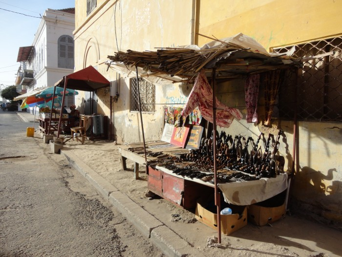 Typical souvenir shop, Senegal (photograph by the author).