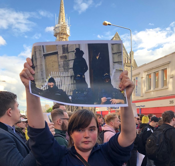 Image 2.Protester with Photo